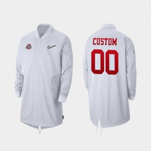 College Customized Jacket Ohio State Full-Zip Sideline 2019 Football Playoff Bound For Men White #00