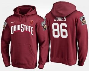 Scarlet #86 OSU Men's Dre'Mont Jones College Hoodie