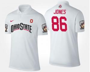 #86 OSU Buckeyes For Men Dre'Mont Jones College Polo White