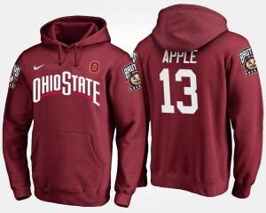 Eli Apple College Hoodie #13 Scarlet Ohio State For Men