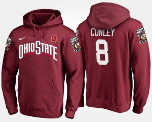 Ohio State #8 Scarlet Gareon Conley College Hoodie Mens