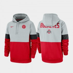 Gray Scarlet Rivalry Buckeye For Men College Hoodie Therma Performance Pullover