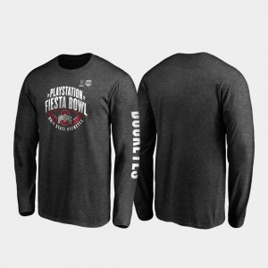2019 Fiesta Bowl Bound College T-Shirt Mens Heather Charcoal Neutral Stiff Arm Long Sleeve Ohio State