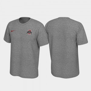 OSU Left Chest Logo Heathered Gray College T-Shirt Legend For Men's