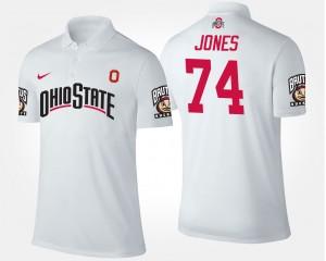 #74 White For Men Ohio State Jamarco Jones College Polo