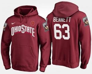 Ohio State For Men Michael Bennett College Hoodie #63 Scarlet