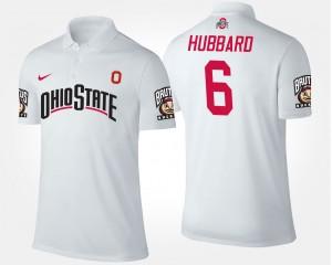 Sam Hubbard College Polo #6 Men White Ohio State