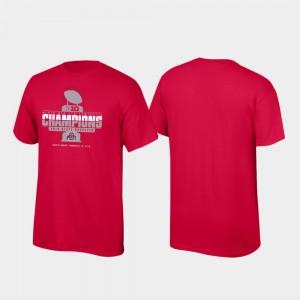 Ohio State For Men 2019 Big Ten Football Champions Locker Room College T-Shirt Scarlet