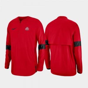 Quarter-Zip Men's OSU Buckeyes Scarlet 2019 Coaches Sideline College Jacket