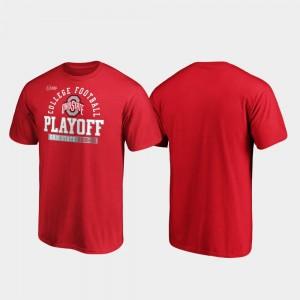 Scarlet Ohio State 2019 Football Playoff Bound Safety Men's College T-Shirt
