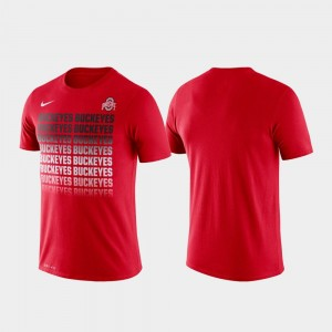 College T-Shirt Ohio State Scarlet Performance Fade For Men's