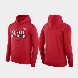 Scarlet College Hoodie Ohio State Buckeye For Men's Performance Football Practice