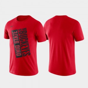 Basketball Performance Men College T-Shirt OSU Scarlet Just Do It