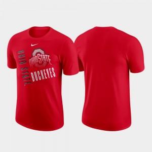 Scarlet Performance Cotton OSU Buckeyes Just Do It College T-Shirt Men's