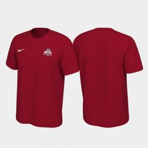 College T-Shirt Buckeyes Legend Scarlet Left Chest Logo For Men's
