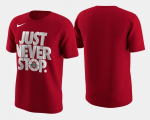 Men Ohio State Buckeye March Madness Selection Sunday Scarlet Basketball Tournament Just Never Stop College T-Shirt