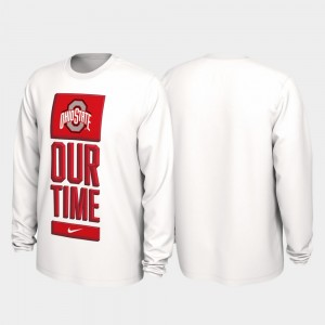 Ohio State Mens 2020 March Madness White Our Time Bench Legend College T-Shirt