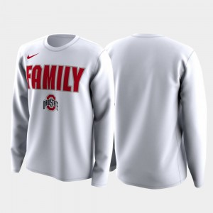 March Madness Legend Basketball Long Sleeve Ohio State Buckeye Men's Family on Court College T-Shirt White