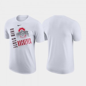 Just Do It Ohio State Buckeyes White College T-Shirt Performance Cotton For Men's
