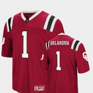 Crimson Sooners Colosseum #1 Foos-Ball Football College Jersey For Men's
