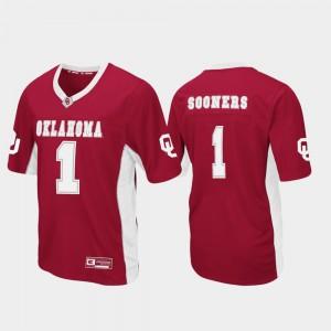 Oklahoma Football Crimson College Jersey Max Power #1 Men's