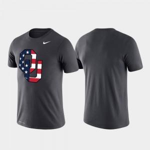 Performance OU Sooners College T-Shirt Anthracite Americana Legend Men's