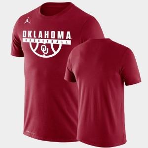 College T-Shirt Mens Crimson Oklahoma Drop Legend Performance Basketball