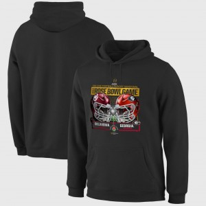 College Hoodie Oklahoma vs. Georgia Bulldogs 2018 Rose Bowl Playoff Dueling First Down Black Bowl Game For Men's