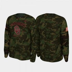 College T-Shirt Sooners 2019 Veterans Day For Men Legend Long Sleeve Camo