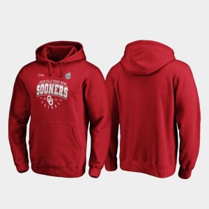 Oklahoma Men's Crimson College Hoodie 2019 Peach Bowl Bound Tackle