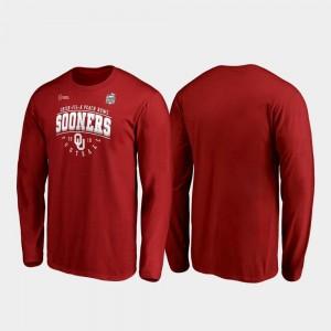 Tackle Long Sleeve Crimson Men 2019 Peach Bowl Bound Oklahoma College T-Shirt