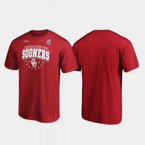 OU Sooners Crimson Tackle For Men's 2019 Peach Bowl Bound College T-Shirt