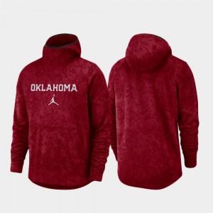 Crimson OU Men's College Hoodie Basketball Team Logo Pullover Spotlight