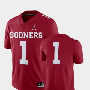 For Men's Football 2018 Game #1 College Jersey Oklahoma Crimson