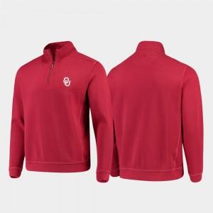 Sport Nassau Mens Half-Zip Pullover Tommy Bahama College Jacket Crimson Sooners