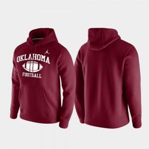 Crimson Club Fleece OU Sooners College Hoodie Retro Football Men's