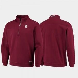 Crimson For Men's College Jacket Quarter-Zip Collegiate Shep Shirt OU