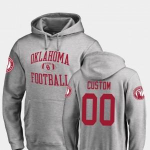 #00 Ash Football College Customized Hoodie Men Neutral Zone Oklahoma Sooners