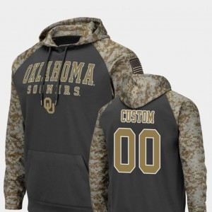 Colosseum Football College Custom Hoodies #00 For Men's Sooners United We Stand Charcoal
