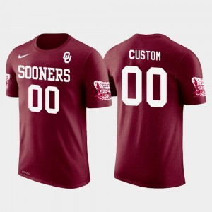Men's Cotton Football #00 Crimson Sooner College Custom T-Shirt Future Stars