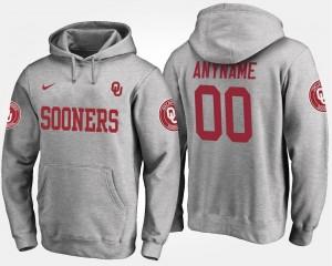 Gray College Custom Hoodie For Men #00 Oklahoma