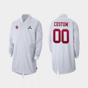 #00 College Custom Jackets White Full-Zip Sideline 2019 Football Playoff Bound Mens OU