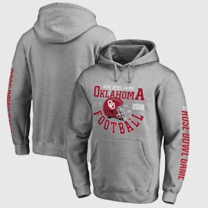 College Hoodie Football Playoff 2018 Rose Bowl Bound Down Oklahoma For Men Bowl Game Gray