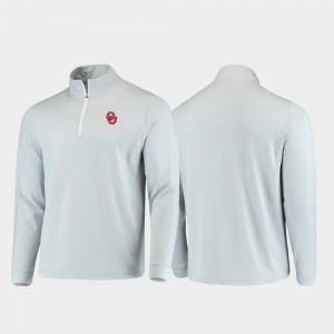 Quarter-Zip Performance Men Gameday College Jacket Gray Oklahoma Sooners