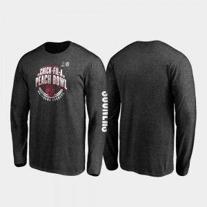 Neutral Stiff Arm Long Sleeve College T-Shirt Men's OU 2019 Peach Bowl Bound Heather Charcoal
