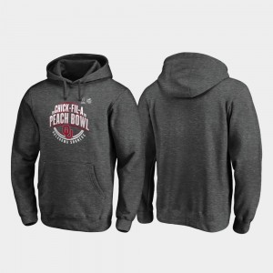 For Men 2019 Peach Bowl Bound Oklahoma Heather Gray Scrimmage College Hoodie