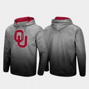 Heathered Gray College Hoodie Pullover Sooner Men's Sitwell Sublimated