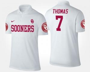 For Men White Jordan Thomas College Polo Oklahoma #7