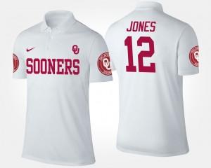Oklahoma Men #12 Landry Jones College Polo White