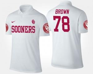 For Men University Of Oklahoma White #78 Orlando Brown College Polo